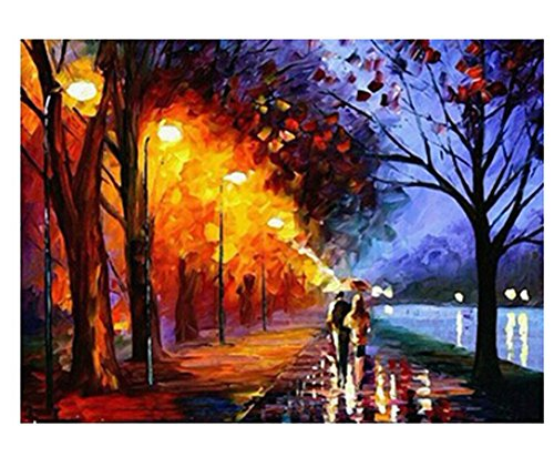 Farway Diy oil painting, paint by number kit Frameless - 1620 inches Walking In The Rain