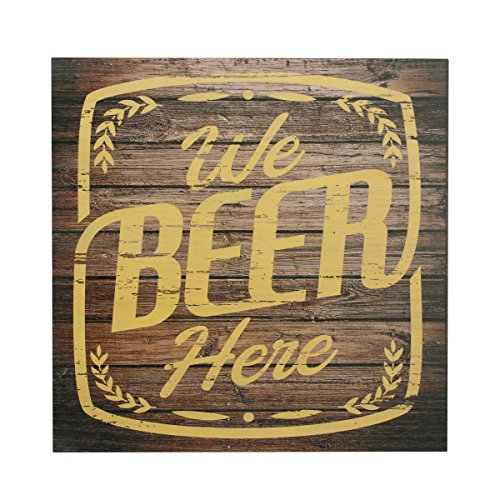 - Stonebriar Humorous 15 Inch Beer Theme Wooden Wall Art with