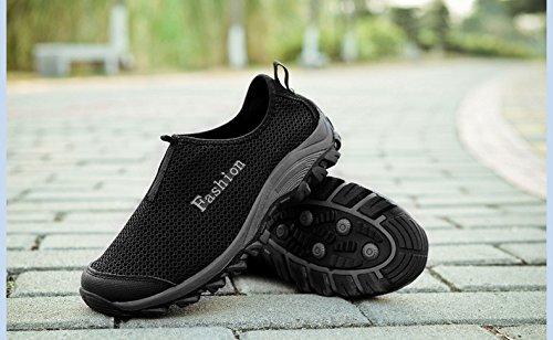 Kunsto Sneakers, Chaussures de running pour homme Noir - noir