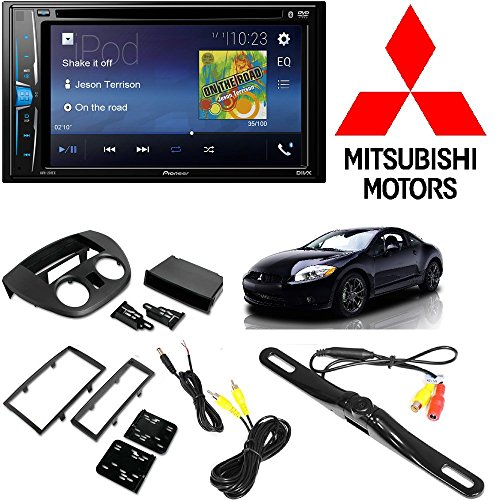 Kits Mitsubishi Dash Eclipse - Pioneer Touchscreen DVD Bluetooth Stereo Receiver Android iPhone Support 2006-2012 Mitsubishi Eclipse Single OR Double DIN Radio Dash Kit + Dash Camera