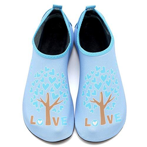 CIOR Männer und Frauen Barfuß Haut Aqua Schuhe Rutschfeste Multifunktionale Wasserschuhe Für Strand Pool Surf Yoga Übung Blau002