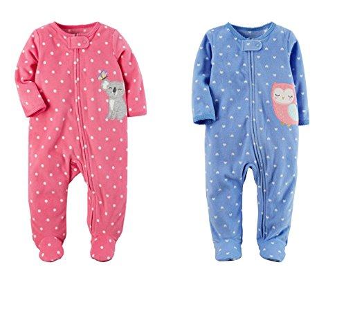 Ella's Bundle of Joy Baby Gifts Ellas Bundle Of Joy Baby Gifts Carters Baby Girls Bundle Of 2 - Sleep & Play Fleece Sleeper Gift Set (3 Months, Koala Owl)