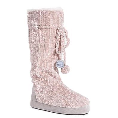 5da094c7f43e MUK LUKS Women s Tall Fleece-Lined Slipper Boot (Small (5-6)