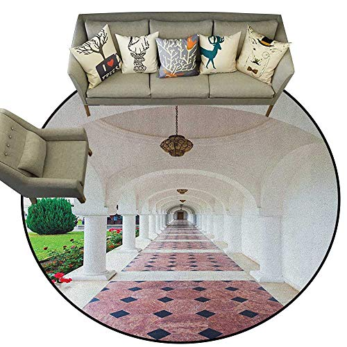 Travel,Carpet mat Dome Arched Colonnade Hallway at Sambata De Sus Monastery in Transylvania Romania D78 Long Kitchen Mat Bath Carpet