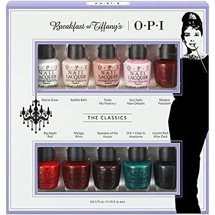 OPI Breakfast at Tiffanys Collection, Esmalte De Uñas - Pack De 10 ...