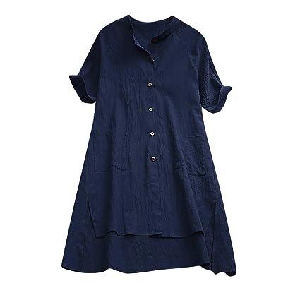 Mujer blusa elegantes,Sonnena ❤ Camisa para mujer con botones para damas Tops sueltos