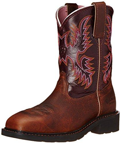 Ariat Women's Krista Pull-on Steel Toe Work Boot, Dark Tan, 8.5 5E US