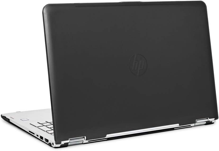 "iPearl mCover Hard Shell Case for 15.6"" HP Envy X360 15-AQxxx / M6-AQxxx Series (15-AQ173cl / m6-AQ103dx, etc) Convertible laptops (X360-15-AQ Black)"