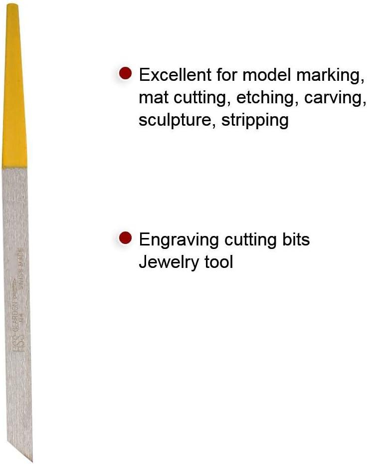 Outil de Bijoux de Mors de Coupe de Gravure pour la Machine de Gravure pneumatique /à Impact Runaty Outil de d/écoupage # 6