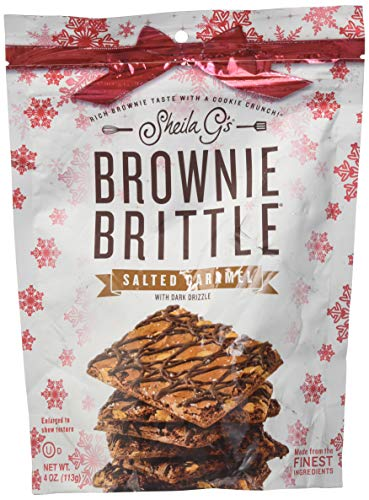 Sheila G's Holiday Salted Caramel With Dark Drizzle Brownie Brittle (Your Package May Vary)