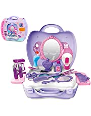 GizmoVine Pretend Play Makeup Set Toys 21pcs Playset Toys with Carrying Case for 2 3 4 5 year olds girls