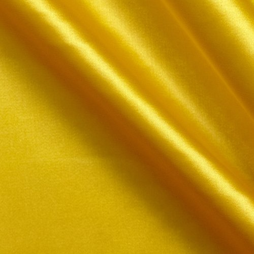 Ben Textiles Stretch Charmeuse Satin Yellow Fabric By The Yard