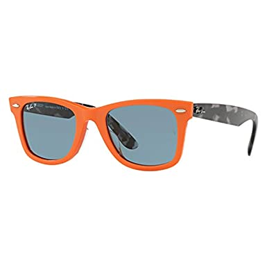 e4ab30aa1b438f Image Unavailable. Image not available for. Color: Ray-Ban Men's Wayfarer  Polarized Square Sunglasses ...