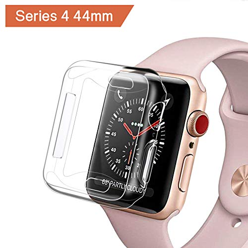 Hagibis for Apple Watch Series 4 Screen Protector (44mm), iWatch 4 Case [3D Touch] [All Around Protective] [Ultra Clear] Soft TPU Cover Bumper for 2018 New Apple Watch Series 4