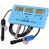 Yescom 6 in 1 Digital LCD Handheld PH PPM Temp TDS EC CF Meter Water Hydroponics Tester Kit w/ Case