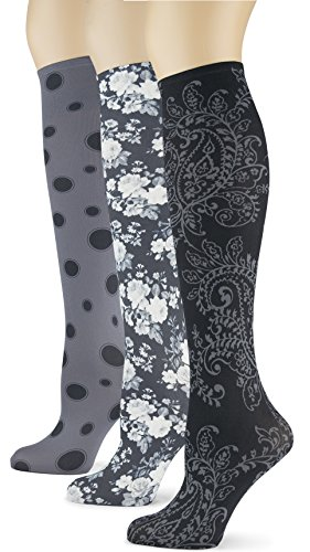 Knee High Trouser Socks w/ Colorful Printed Patterns - Made in USA by Sox Trot (3 Paisley Etcetera)