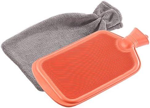 PEARL Wärmflsche: XL-Wärmflasche, 2 Liter, inklusive flauschigem Coral-Fleece-Bezug (Gummiwärmflaschen)