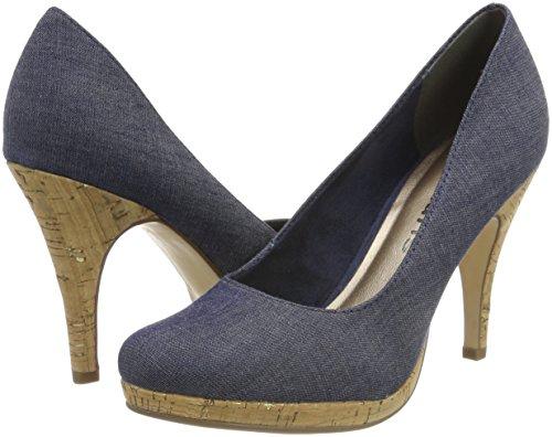 De Jeans Azul Tacón 22407 Mujer Para navy Zapatos Tamaris aOwA1qnxRO