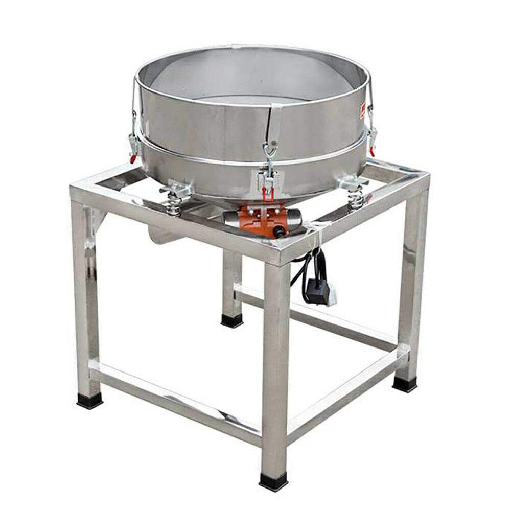 Automatic Powder Sifter, 110V 300W Electric Vibrating Sifter Shaker Round Stainless Steel Flour Sieve Machine with 2 Screens for Mechanical & Food Industrial by NICE CHOOSE