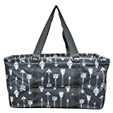 N. Gil All Purpose Open Top 23'' Classic Extra Large Utility Tote Bag 3 (Arrow Grey)