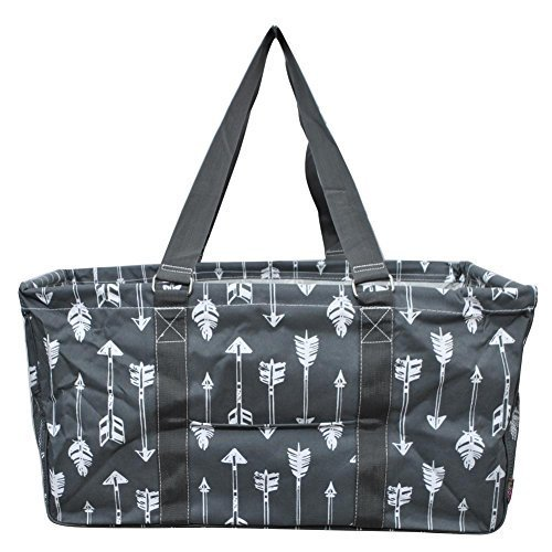 """N. Gil All Purpose Open Top 23"""" Classic Extra Large Utility Tote Bag 3 (Arrow Grey)"""