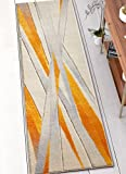 Well Woven RU-91-2 Yellow Lalu Modern Abstract Lines 2' x 7' Runner Area Rug