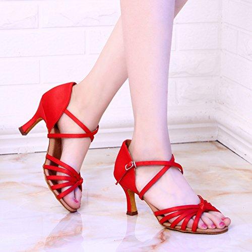Standard Sociale de Sandales Moyens Chaussures de Womens Talons Rouge Danses Chaussures Danse WYMNAME de Danse D'intérieur Latine International Chaussures Bq6ax7wv