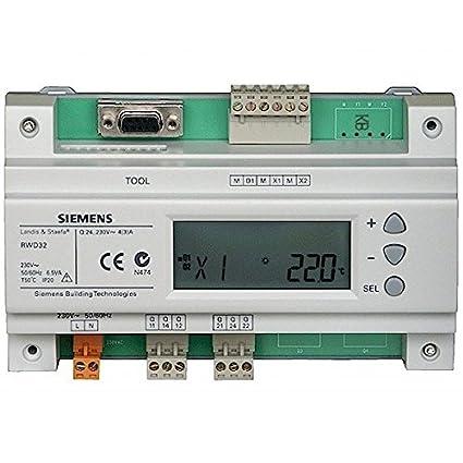 Universal controlador Universal control Siemens RWD32 con termostato /7612914001849
