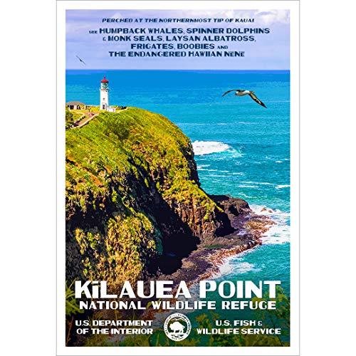Refuge Point - Kilauea Point National Wildlife Refuge, Kauai, Hawaii - WPA-Style National Park Poster - 13
