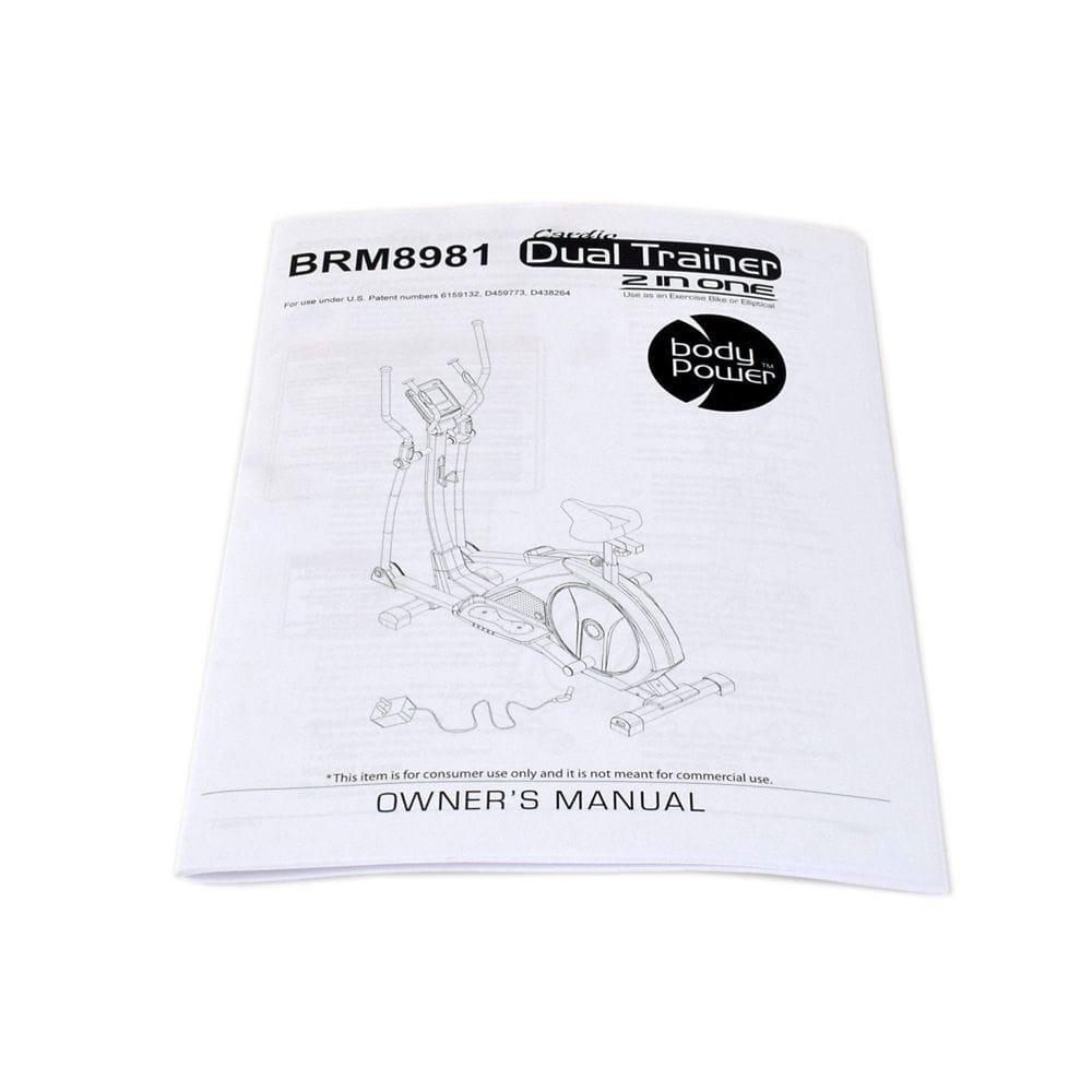 Body Flex Sports 8981-OM Elliptical Owner's Manual Genuine Original Equipment Manufacturer (OEM) Part for Body Flex Sports