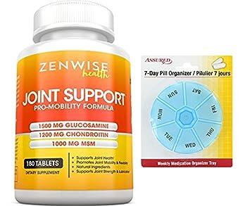 El sulfato de glucosamina 1500mg condroitina MSM - fuerza adicional conjunta 180 comprimidos con gratis 7