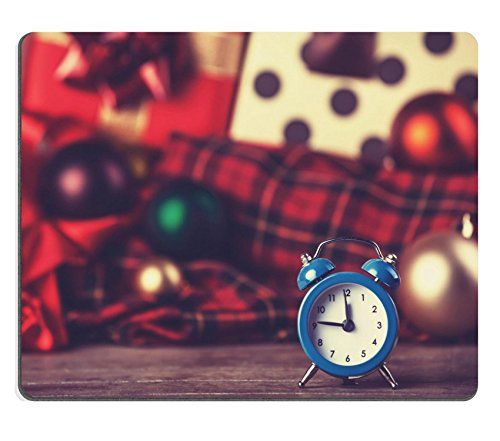 MSD Natural Rubber Gaming Mousepad Vintage clock on christmas Photo