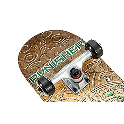 Punisher Skateboards MAYAN Complete Skateboard with Convace Deck : Sports & Outdoors