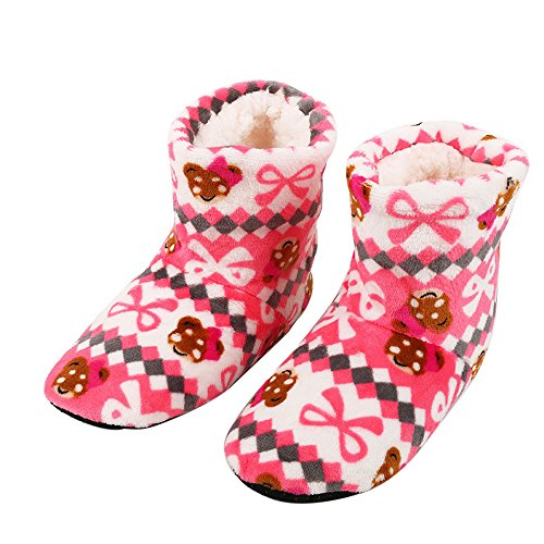 Bronze Calf Footwear - Gyoume Snow Boots Christmas Socks Soft Plush Ankle Boots Women Ladies Cotton Warm Indoor Slippers