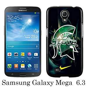 Beautiful And Unique Designed Case For Samsung Galaxy Mega 6.3 I9205 With Michigan State Spartans 01 black Phone Case