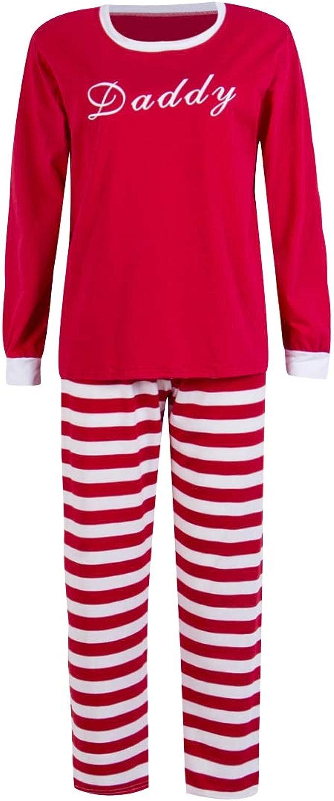 Pijamas Familiares Navideñas Pijama Rayas Navidad Familia Conjuntos Navideños Mujer Niños Niña Hombre Adultos Trajes para Navidad Pijama Caballero ...