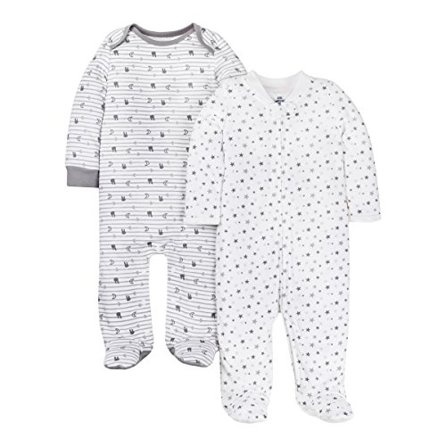 Lamaze Organic Baby Kids & Baby Infant Baby Organic 2 Pack Sleep N Play, Gray 3M