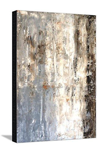 Canvas Print Wall Art 'Brown And Grey Abstract Art Painting' by T30Gallery, 24x32 in (Painting Art Abstract Com)
