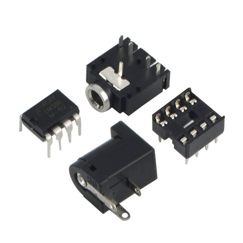 LM386 DIY Mini Amplificador Tablero Módulo Amplificador de Audio de Alto Rendimiento 3V-12V Accesorios electrónicos compactos: Amazon.es: Electrónica