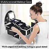 Joligrace Makeup Train Case Organizer Box