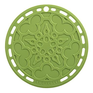 Le Creuset Silicone 8  Round French Trivet, Palm