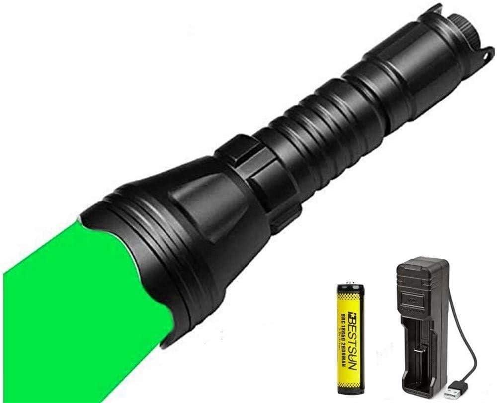 Grünlicht Jagdlampe Taschenlampe Licht 300 Meter Montieren Fernschalter AKKU DHL