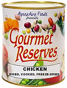 AlpineAire Foods Gourmet Reserves Diced Cooked Freeze Dried Chicken (10-Can)