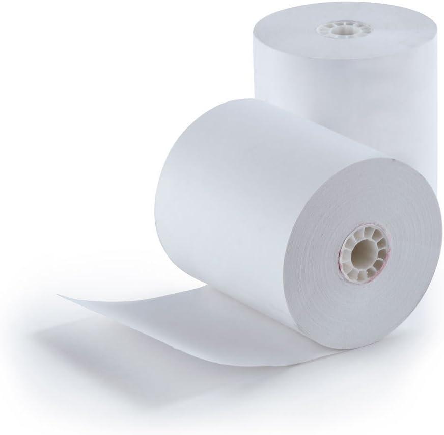 SAME DAY FREE SHIPPING 3 1//8 x 230 thermal paper 50 rolls BPA FREE