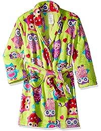 Girls' Heart Velvet Fleece Robe