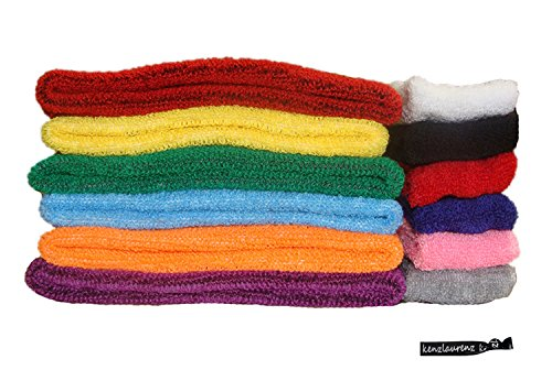 Kenz Laurenz Sweatbands Cotton Sports Headbands - Soft and Stretchy 2