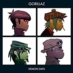"""Demon Days is the second studio album by Gorillaz. The album features the hit singles """"Feel Good Inc."""", """"DARE"""", """"Kids With Guns"""", and """"El Mañana"""", with contributions from De La Soul, Neneh Cherry, Martina Topley-Bird, Roots Manuva, MF DOOM, ..."""
