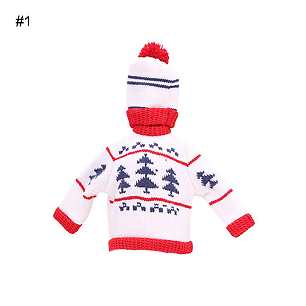 Alamana Cute Christmas Tree Snowman Snowflake Wine Bottle Sweater Cover Cap Celebrate Gift Party Table Decor Christmas Tree