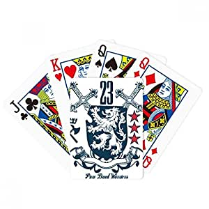 Sword Medieval Knights of Europe Lion Emblem Poker Playing Cards Tabletop Game Gift