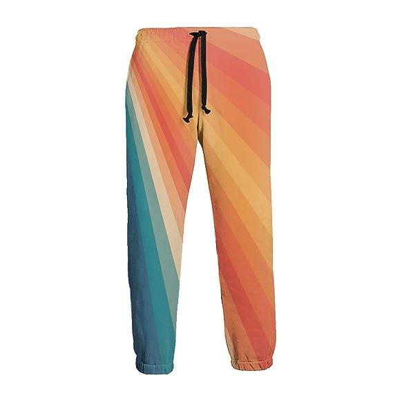 LDDDP Pantalones de chándal Retro de los años 70 para Hombre con ...